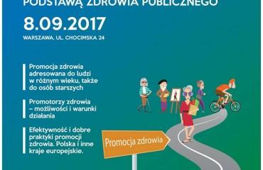 """Konferencja """"Promocja zdrowia podstawą zdrowia publicznego. Promocja zdrowia dla osób starszych."""