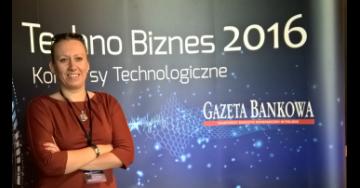 Dr Anna Staniszewska na konferencji Techno Biznes